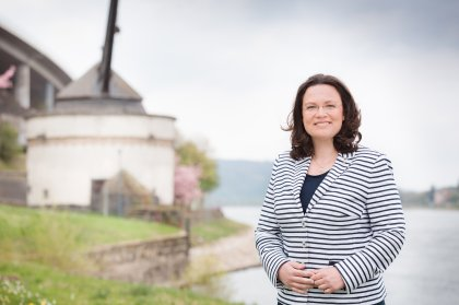 Andrea Nahles in Andernach
