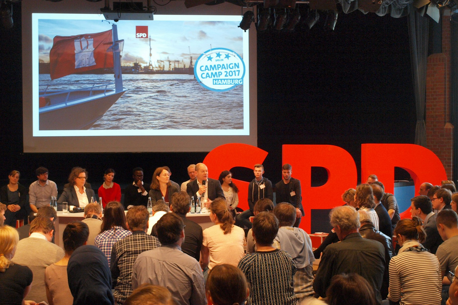 Campaign Camp der SPD in Hamburg