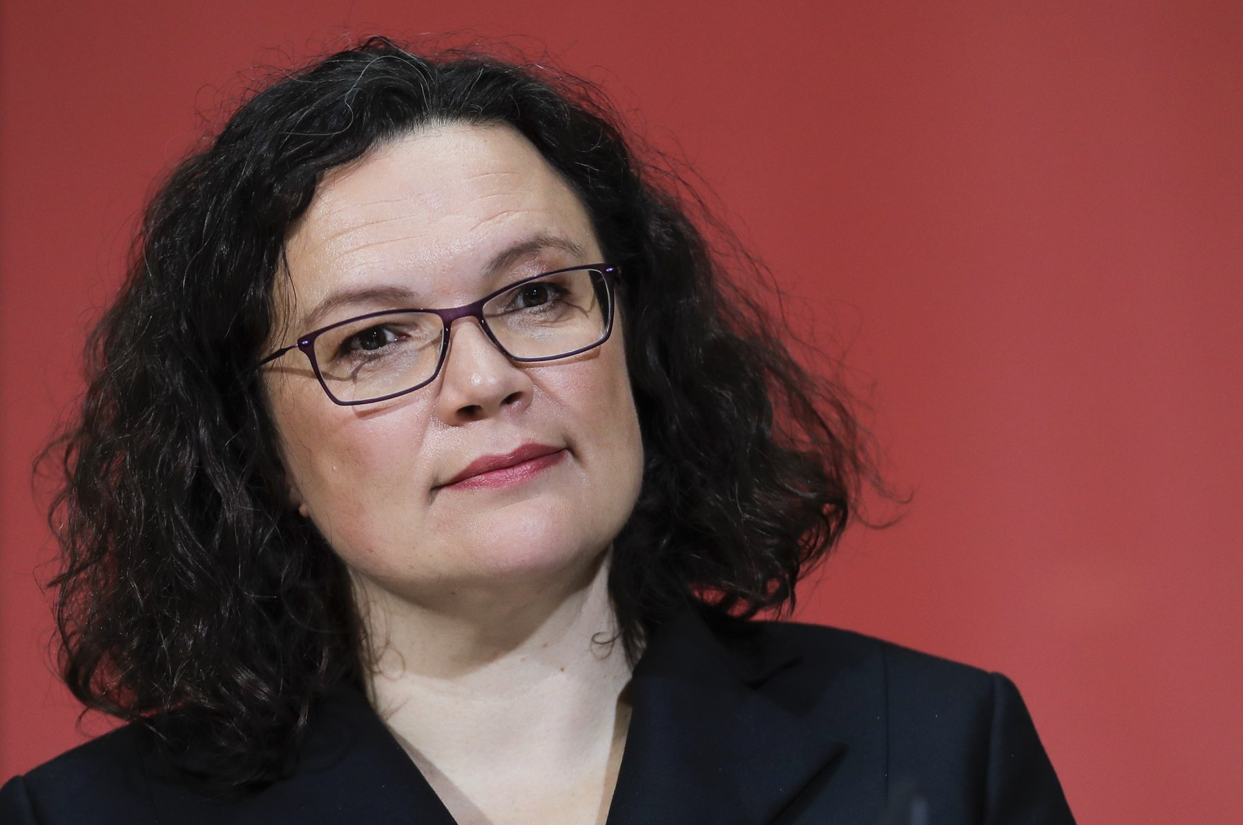 SPD-Chefin Andrea Nahles im Willy-Brandt-Haus