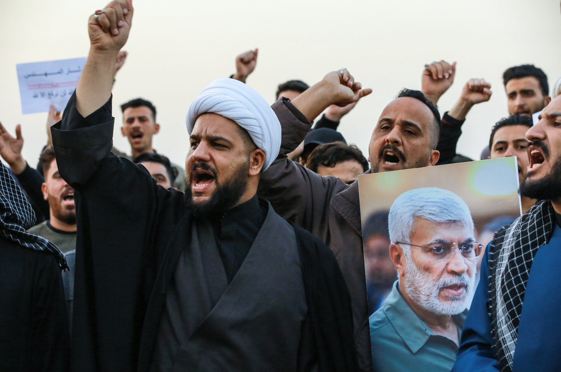 Demonstration in Bagdad gegen den US-Luftangriff auf General Soleimani.